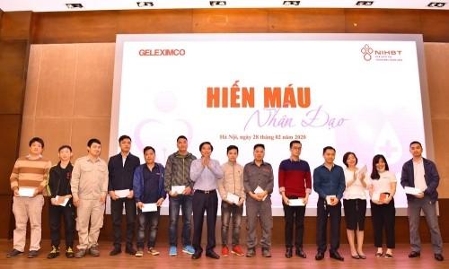 Tập đoàn Geleximco tổ chức hiến máu tình nguyện