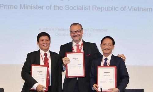 Geleximco ký biên bản ghi nhớ tại Diễn đàn Doanh nghiệp Việt Nam - Áo