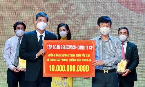 Geleximco và ABBANK ủng hộ 20 tỷ đồng cho Quỹ vaccine phòng Covid-19 của TP. Hà Nội