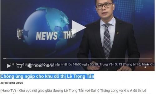 Geleximco - Chống úng ngập cho khu đô thị Lê Trọng Tấn