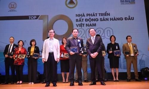 Tập đoàn Geleximco dành cú đúp giải thưởng trong Lễ Vinh danh thương hiệu BĐS dẫn đầu năm 2020 - 2021