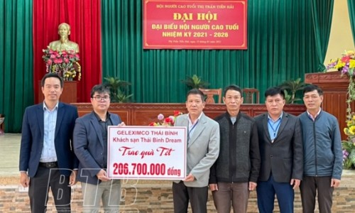 Geleximco Thái Bình trao trên 600 suất quà tết cho người cao tuổi, người nghèo, trẻ em khuyết tật