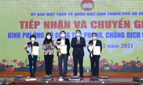 Tập đoàn Geleximco chung tay ủng hộ công tác phòng, chống dịch Covid-19 của Hà Nội