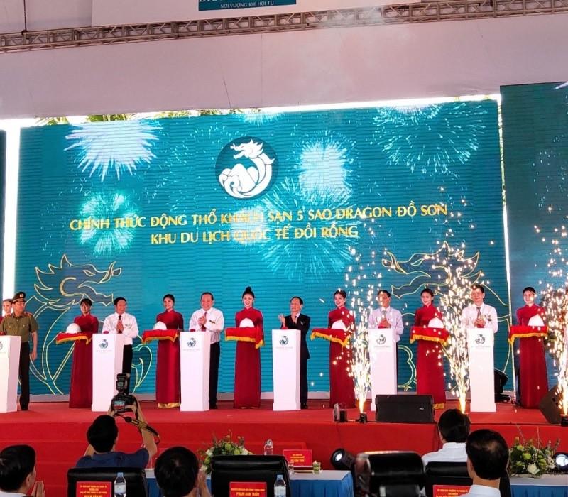 Động thổ Khách sạn 5 sao và khai trương bãi biển nhân tạo thuộc Khu Du lịch Quốc tế Đồi Rồng