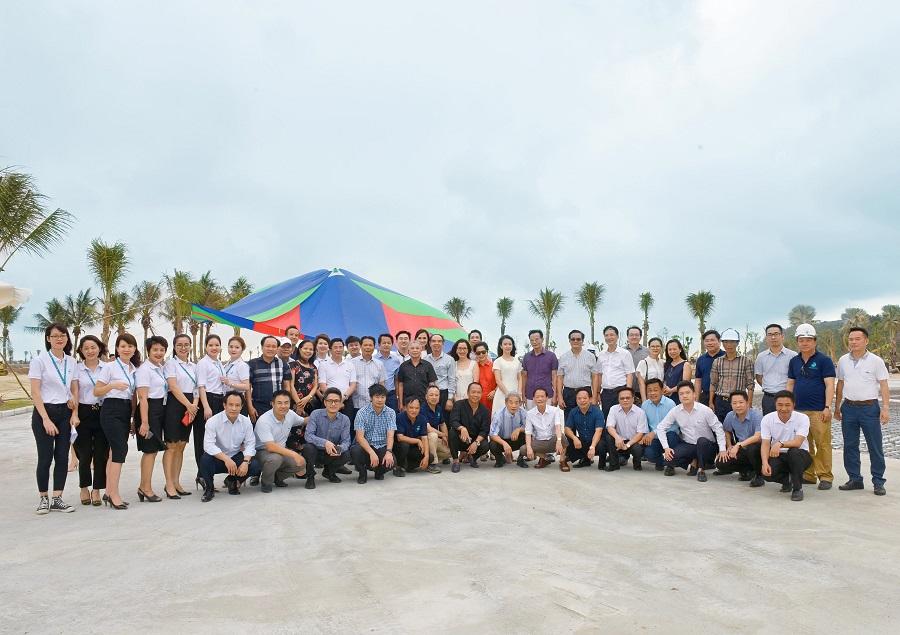 Đoàn công tác Tập đoàn Geleximco tới thăm dự án Khu du lịch quốc tế Đồi Rồng