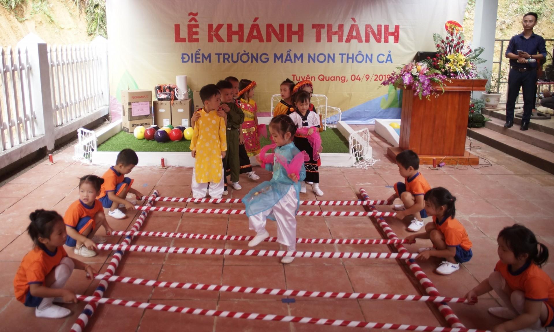 Điểm trường mầm non thôn Cả, xã Công Đa, Tuyên Quang