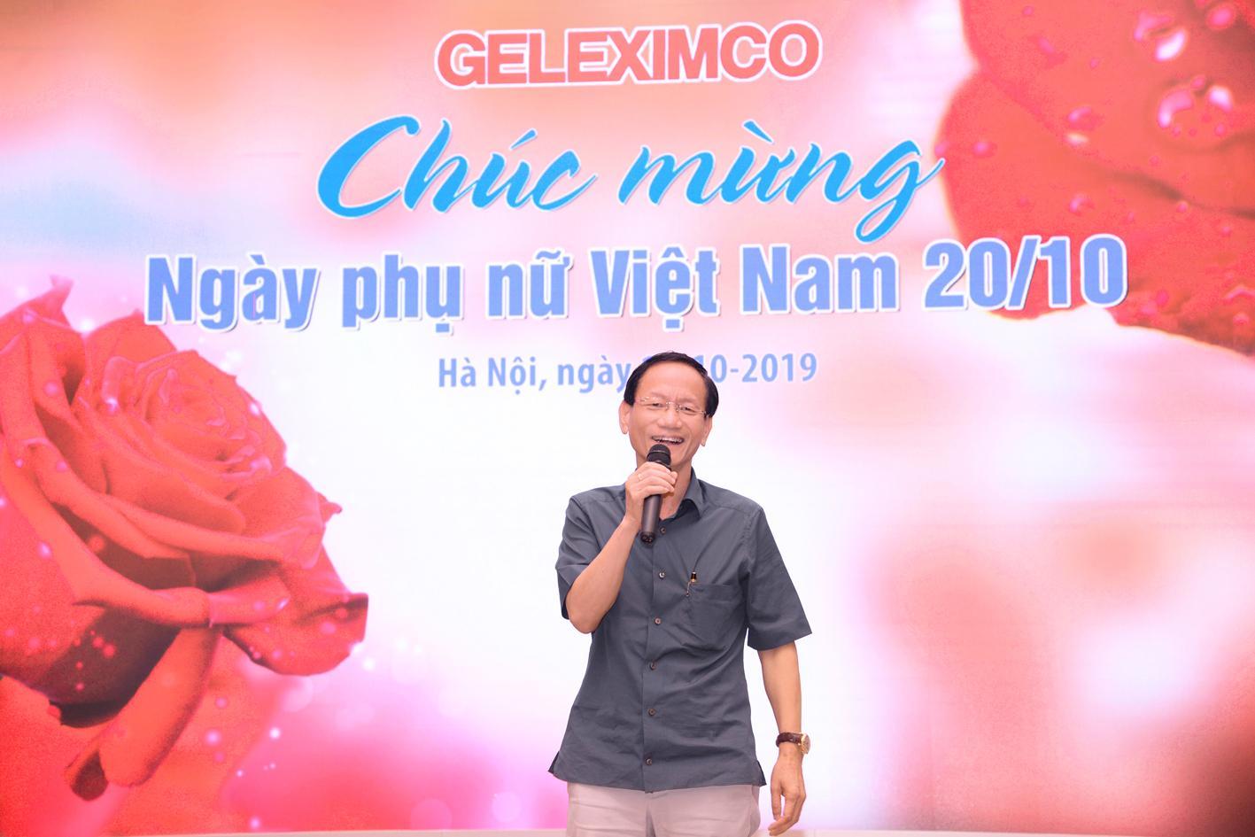Tổng giám đốc Vũ Văn Tiền phát biểu chào mừng nhân dịp 20/10