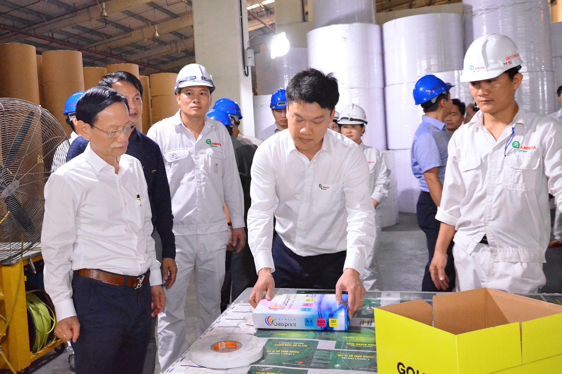 Đoàn công tác Tập đoàn Geleximco thăm Nhà máy giấy An Hòa