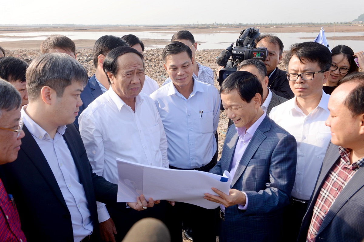 Kiểm tra tiến độ thực hiện Dự án Khu du lịch Đồi Rồng (quận Đồ Sơn)