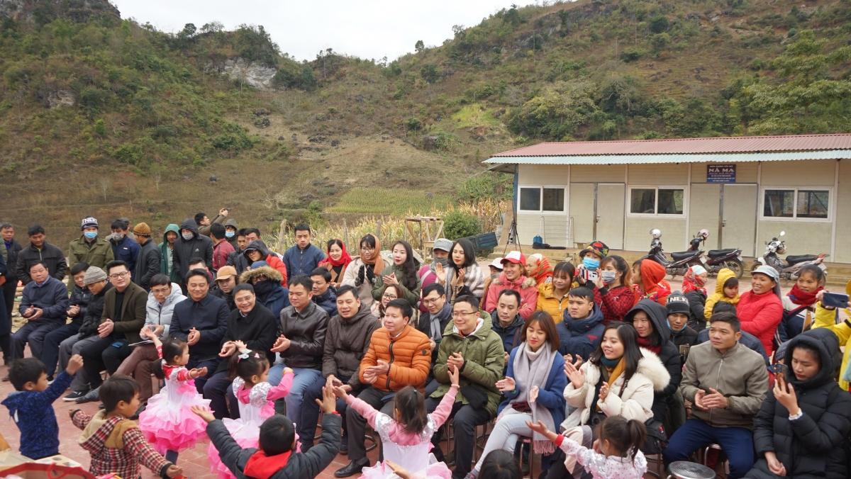 Lễ khánh thành điểm trường tại thôn Nà Ma, xã Phúc Lộc, huyện Ba Bể, tỉnh Bắc Cạn