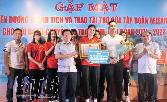 Tập đoàn Geleximco cho đội bóng chuyền nữ Thái Bình
