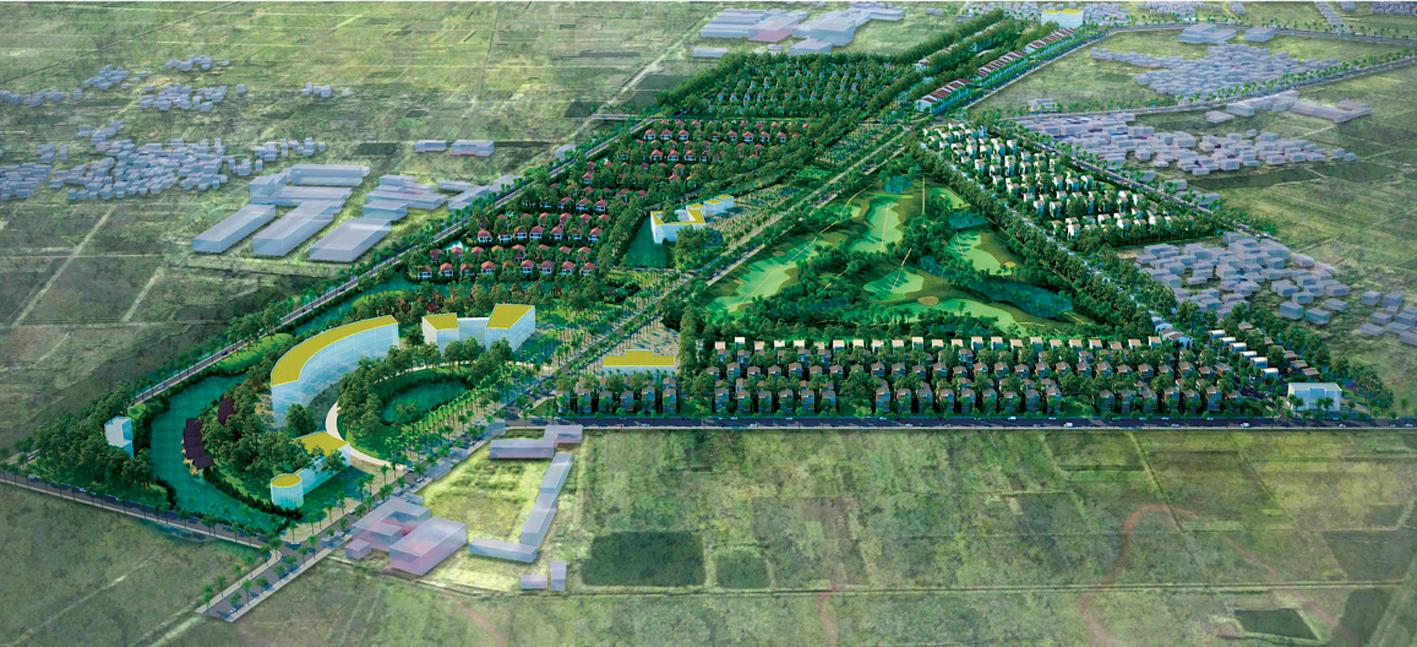 Khu nhà vườn du lịch sinh thái và sân tập golf Vân Tảo Geleximco